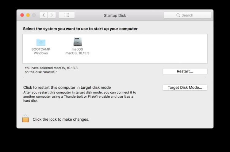 Chọn hệ điều hành mà bạn muốn khởi động và nhấn nút Restart.